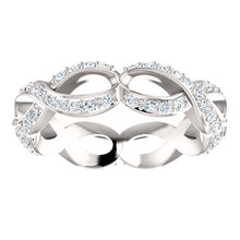 Load image into Gallery viewer, Beautiful! Diamond Sculptural-Inspired Eternity Engagement Ring By Parker Edmond - ParkerEdmond