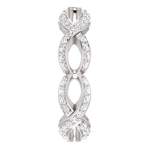 Beautiful! Diamond Sculptural-Inspired Eternity Engagement Ring By Parker Edmond - ParkerEdmond
