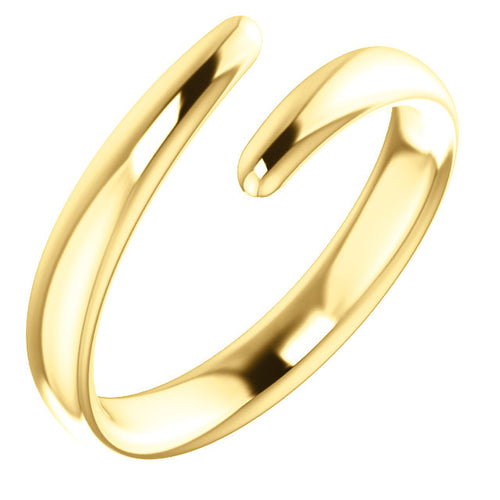 Elegant 14k Gold Bypass Ring