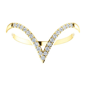 "Designer Diamond ""V"" Ring with 1/6 CTW Diamonds by Parker Edmond - ParkerEdmond"
