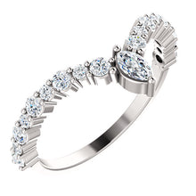 "Load image into Gallery viewer, Stunning! Platinum 1/2 CTW Diamond Marquise ""V"" Ring by Parker Edmond - ParkerEdmond"