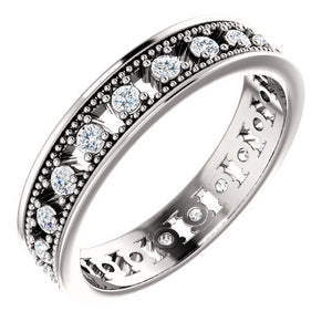Spoil Her! with this Gold or Platinum 1/2 CTW Diamond Eternity Band