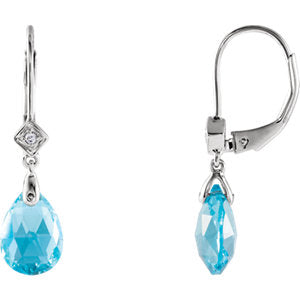 Swiss Blue Topaz & Diamond Earrings by Parker Edmond - ParkerEdmond