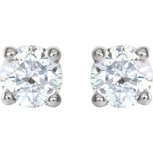Load image into Gallery viewer, High Quality 14K White 1/4 CTW Diamond Earrings