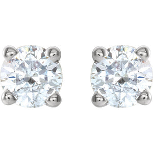 High Quality 14K White 1/4 CTW Diamond Earrings