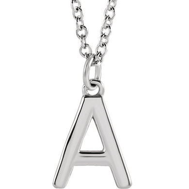 Latest Craze! Sterling Silver Initial Dangle Necklace  18