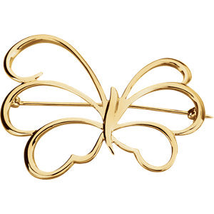 Elegantly Designed Butterfly Brooch - ParkerEdmond