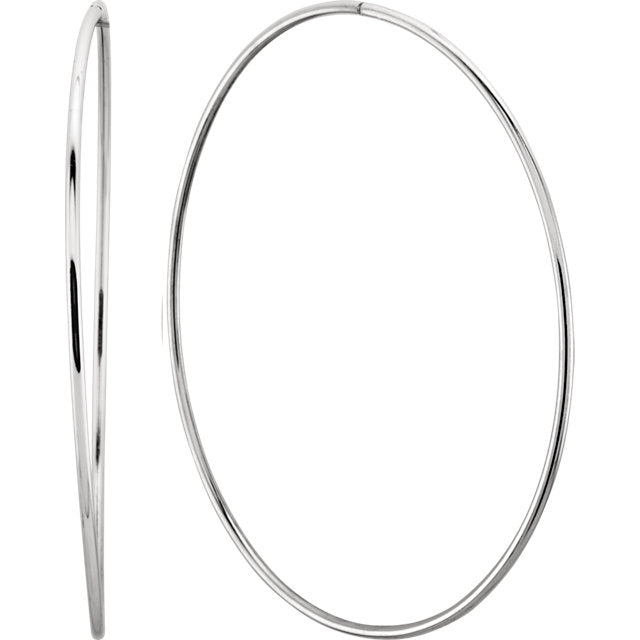 Trendy Sterling Silver Endless Hoop Tube Earrings by Parker Edmond - ParkerEdmond