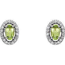 Load image into Gallery viewer, Pick your Gemstones! & 1/10 CTW Diamond Earrings by Parker Edmond - ParkerEdmond