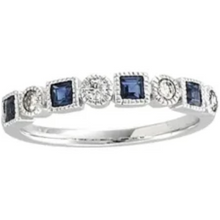 Load image into Gallery viewer, Stunning 1/5 CTW Diamond & Sapphire Anniversary Band