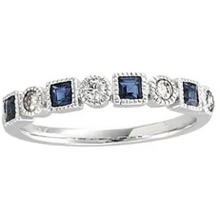 Load image into Gallery viewer, Stunning 1/5 CTW Diamond & Blue Sapphire Ring