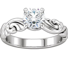 Load image into Gallery viewer, Stunning 1 CT Diamond Engagement Ring set in 10k White Gold by Parker Edmond - ParkerEdmond