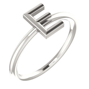Sterling Silver Initial Ring by Parker Edmond Jewelry
