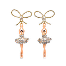 Load image into Gallery viewer, PINK STRASS BALLERINA STUD EARRINGS BY PARKER EDMOND - ParkerEdmond