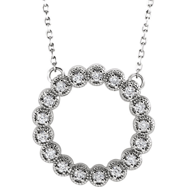 Stunning 1/4 CTW Diamond Circle Necklace - ParkerEdmond
