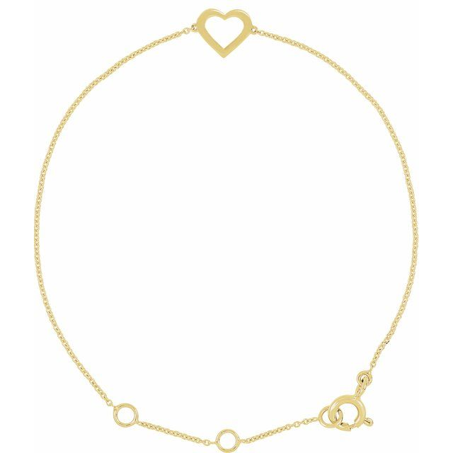I love You! 14K Yellow Heart Design 7