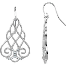 Load image into Gallery viewer, Filigree Scroll Earrings with set 1/4 CTW Diamonds by Parker Edmond - ParkerEdmond