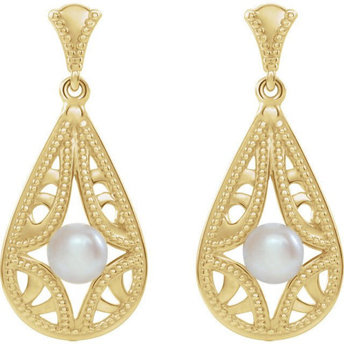 Freshwater Cultured Pearl Vintage-Inspired Earrings by Parker Edmond - ParkerEdmond