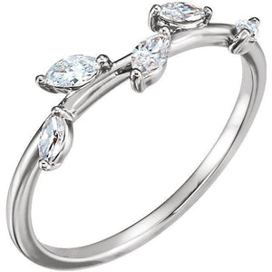 Quality Platinum & Diamonds Form this 1/3 CTW Diamond Leaf Ring by Parker Edmond - ParkerEdmond