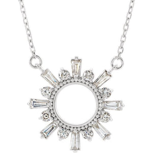 Stunning 1/2 CTW Diamond Circle Necklace by Parker Edmond - ParkerEdmond