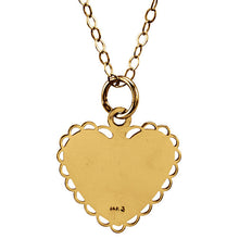 "Load image into Gallery viewer, Heart Shaped 14K Yellow Gold  ""Daddy's Little Girl"" - ParkerEdmond"