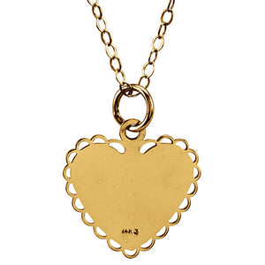 "Heart Shaped 14K Yellow Gold  ""Daddy's Little Girl"" - ParkerEdmond"