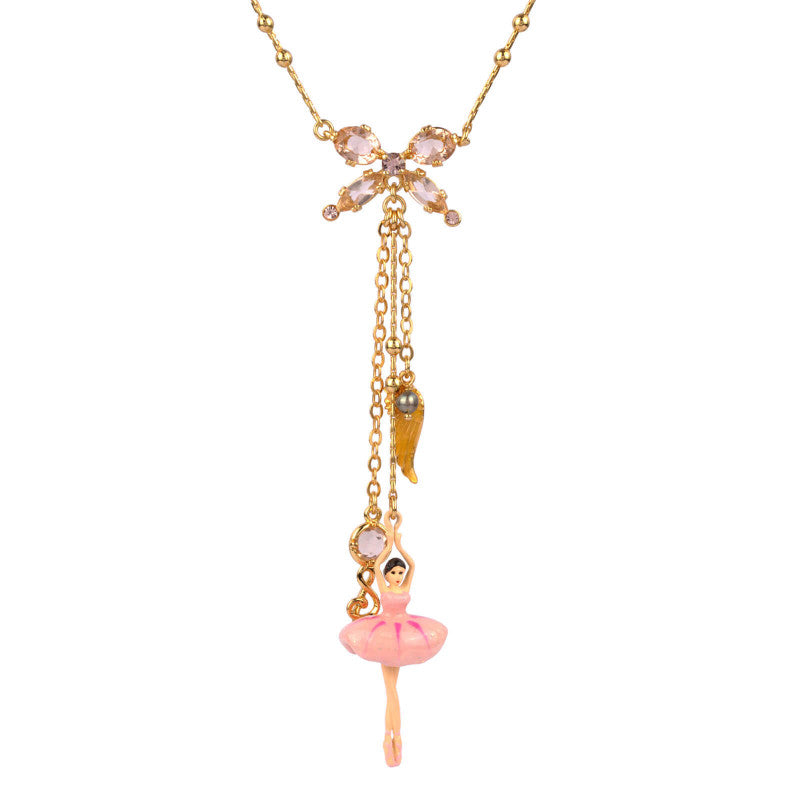 NECKLACE WITH BALLERINA AND PINK TREBLE CLEF BY PARKER EDMOND - ParkerEdmond