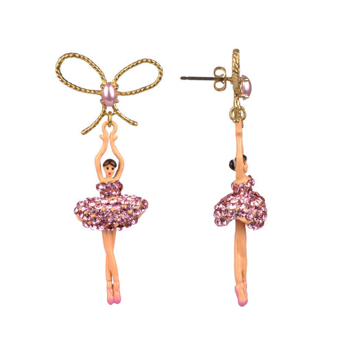PINK STRASS BALLERINA STUD EARRINGS BY PARKER EDMOND - ParkerEdmond
