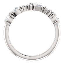 Load image into Gallery viewer, Individual Unique Cut Diamonds 7/8 CTW Set in this 14k White Gold Band