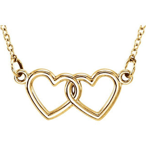 "Tiny Posh® Double Heart 16-18"" Necklace - Best Seller"