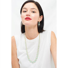 Load image into Gallery viewer, Les Néréides - LONG NECKLACE WITH ROUND STONES AND PALE GREEN CHAIN by Parker Edmond - ParkerEdmond