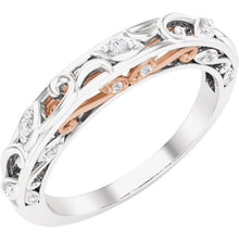 Load image into Gallery viewer, Diamond Wedding Band with Unique Scroll Design and Gold Combinations by Parker Edmond - ParkerEdmond