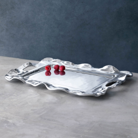 VENTO Rebecca Medium Rectangular Tray with Handles - MEDIUM