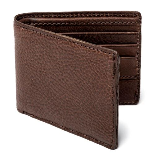Mission Mercantile Campaign Leather Bi-Fold Wallet