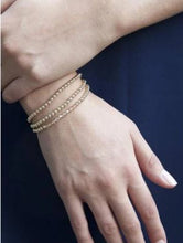 Load image into Gallery viewer, Classic Gold 4mm Bead Bracelet