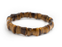 Load image into Gallery viewer, BAMBOO BANGLE, TIGER EYE