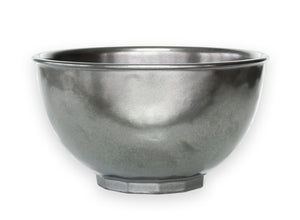 PEWTER STONEWARE CEREAL BOWL