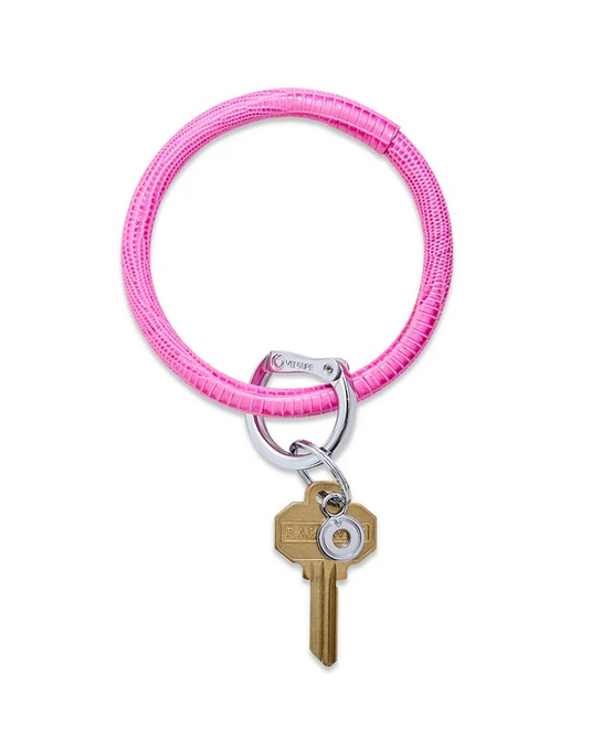 Big O Key Ring-Tickled Pink Leather