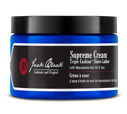 Jack Black |Supreme Cream Triple Cushion® Shave Lather with Macadamia Nut Oil & Soy