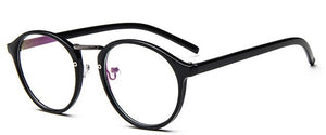 Transparent Round Glasses (clear frame)