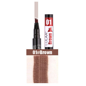LULAA Waterproof Natural Eyebrow Pen Four-claw Eye Brow Tint
