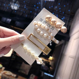 Girls Elegant Pearls Hair Clips