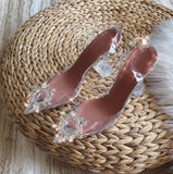 Diamond-Encrusted platform Heels