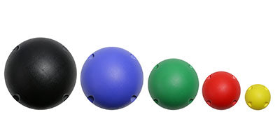 CanDo MVP Balance System - 5-Ball Set (1 each: yellow, red, green, blue, black)