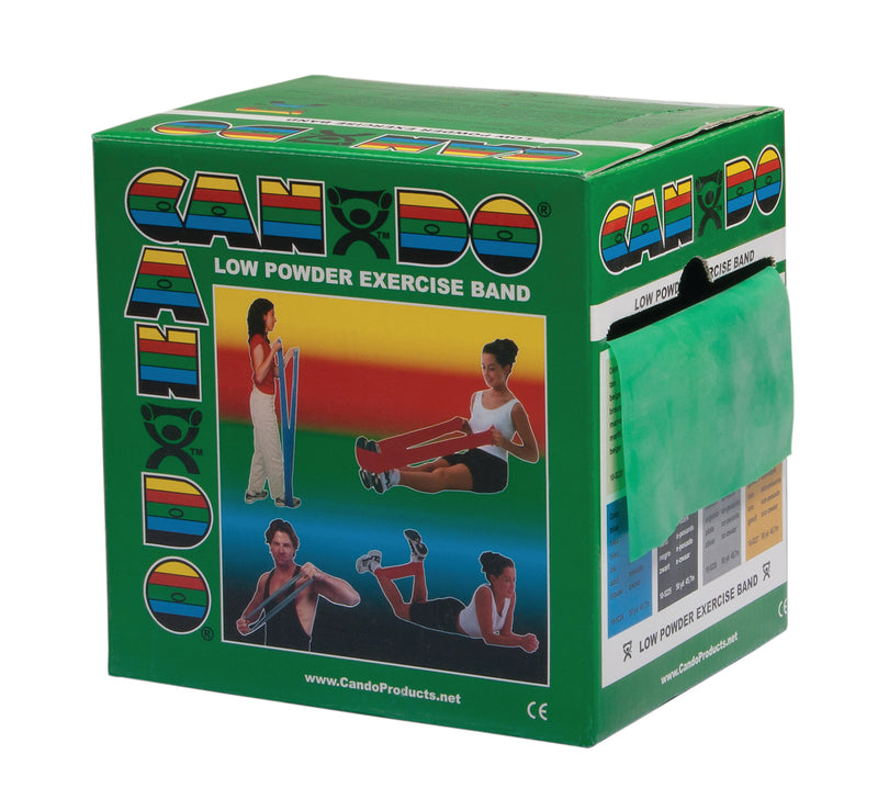 CanDo Low Powder Exercise Band - 50 Yard Dispenser Box