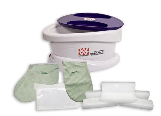Paraffin Bath - Standard Unit Includes: 100 Liners, 1 Mitt, 1 Bootie and 6 lb Unscented Paraffin