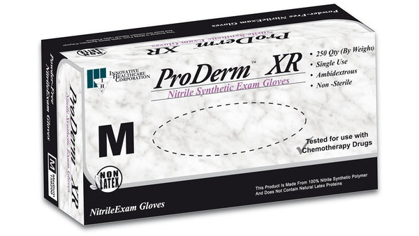 X-Small ProDerm™ XR Nitrile Exam Gloves, PF - Series 158, 250/Box (4187551006833)