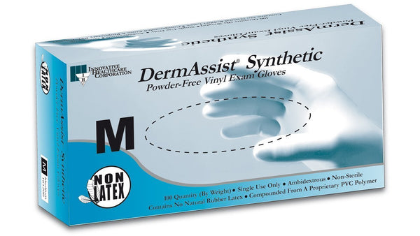 DermAssist® Vinyl Exam Gloves, PF, Non-Sterile - Series 161, 100/bx