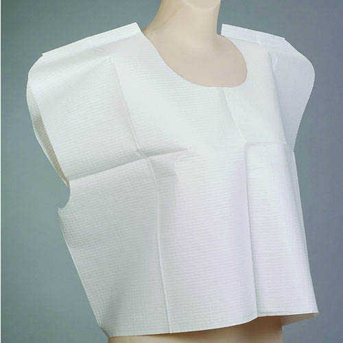 "LOW STOCK - Patient Exam Cape, Tissue/Poly/Tissue - Front/Back Opening, 30""X21"" 100/case (IMCO) (4496586571889)"