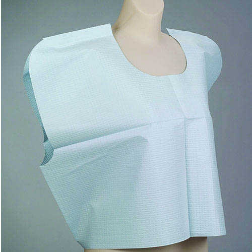 "LOW STOCK - Patient Exam Cape, Tissue/Poly/Tissue - Front/Back Opening, 30""X21"" 100/case (IMCO)"
